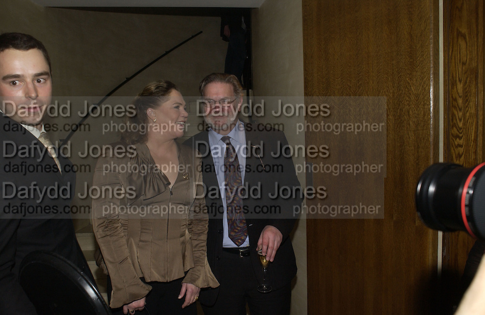 Kathleen Turner and Paul Jesson, The after party following the press night for 'Who's Afraid Of Virginia Woolf?' at the Aldwych theatre on January 31 2006  January 31  2006. © Copyright Photograph by Dafydd Jones 66 Stockwell Park Rd. London SW9 0DA Tel 020 7733 0108 www.dafjones.com