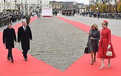 November 19, 2018 - Brussels, Belgium - At the invitation of KING PHILIPPE of Belgium and QUEEN MATHILDE, the President of the French Republic EMMANUEL MACRON, and Mrs. BRIGITTE MACRON pay a state visit to Belgium. (Credit Image: © Panoramic via ZUMA Press)