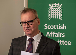 Pictured: Pete Wishart<br /> <br /> Today at the Crew 2000 offices in Edinburgh, the chair of the Scottish Affairs Committee Pete Wishart MP launched an inquiry into drug misuse in Scotland.  He was joined by members of his committee, Tommy Shephard (SNP), Danielle Rowley MP (Labour) and Christine Jardine (Lib Dem)<br /> )<br /> <br /> <br /> Ger Harley   EEm 4 March 2019