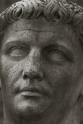 magnificent statue of a man's face
