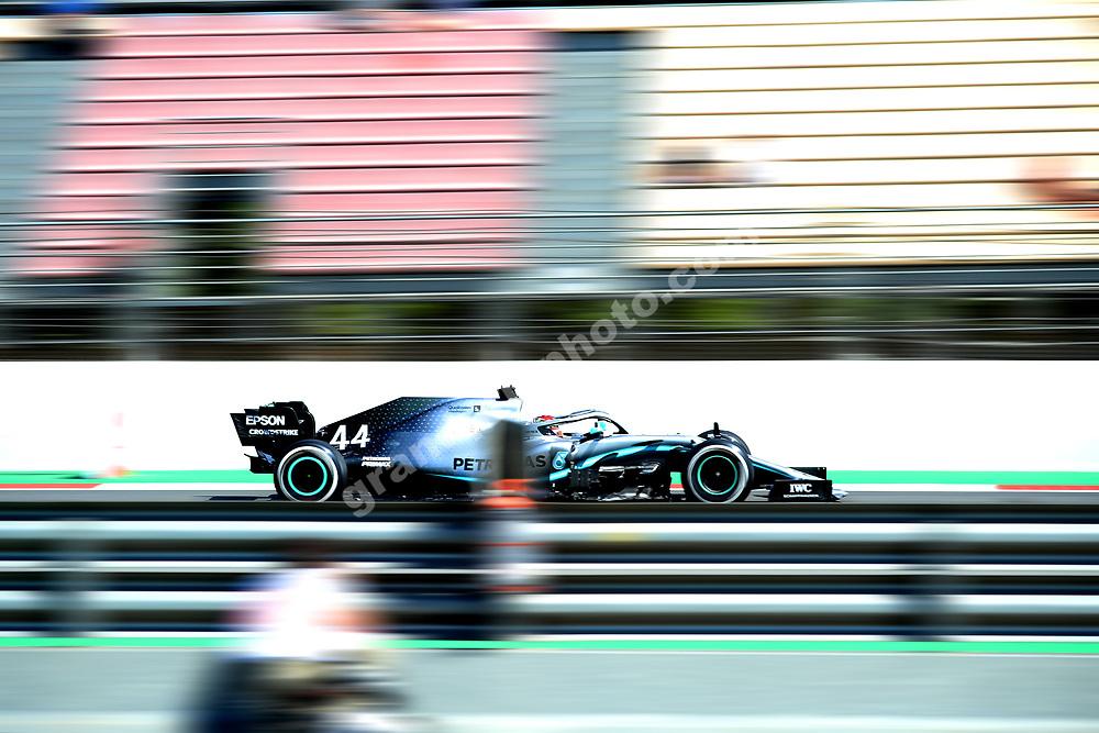 Lewis Hamilton (Mercedes) during practice before the 2019 Spanish Grand Prix at the Circuit de Barcelona-Catalunya. Photo: Grand Prix Photo