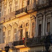 Morning light on the buildings of Old Havana, Cuba