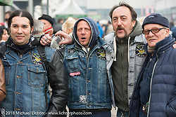 The cool winter air didn't stop visitors from enjoying the outdoor activities at Motor Bike Expo. Verona, Italy. January 24, 2016.  Photography ©2016 Michael Lichter.