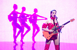 St.Vincent appearing on the Graham Norton Show filmed at the London Studios. London.