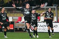Fotball<br /> Frankrike<br /> Foto: Dppi/Digitalsport<br /> NORWAY ONLY<br /> <br /> FOOTBALL - FRENCH CHAMPIONSHIP 2007/2008 - L1 - AS MONACO v OGC NICE - 01/12/2007 -  LILIAN LASLANDES JOY AFTER HIS GOAL