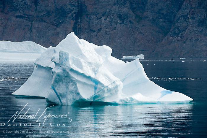 Icebergs near the small fishing village known as Uummannaq, Davis Straights, Greenland
