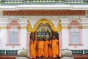 Buddhist monks at temple In Sri Lanka