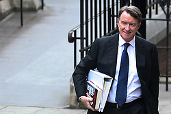 © Licensed to London News Pictures. 21/05/2012. London,Britain.Lord Mandelson arriving at the Royal Courts of Justice to give evidence at the Leveson inquiry in to press standards on May 21, 2012. Photo credit : Thomas Campean/LNP..