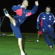 Turkish soccer National team preparing World Cup 2004. Turkey's Erkan during their in Florya Metin Oktay training center Istanbul/TURKEY .<br /> Photo by Aykut AKICI/TurkSporFoto