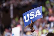USA sign.