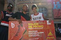 Damian Lillard / Walid Touahri - 30.06.2015 - Lillard Take On Paris<br />Photo : Andre Ferreira / Icon Sport