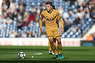 Christian Eriksen of Tottenham Hotspur in action.Premier league match, West Bromwich Albion v Tottenham Hotspur at the Hawthorns stadium in West Bromwich, Midlands on Saturday 15th October 2016. pic by Andrew Orchard, Andrew Orchard sports photography.