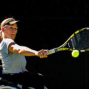 161103 Wheel chair tennis, UNIQLO Wheelchair, Doubles Master<br /> Emmy Kaiser, Fort Mitchell, USA.<br /> © Daniel Malmberg/Sports Shooter Academy 13