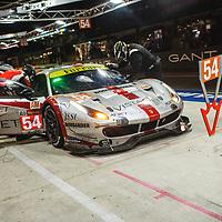 #54, Spirit of Race, Ferrari 488 GTE, LMGTE Am, driven by: Thomas Flohr, Francesco Castellacci, Giancarlo Fisichella on 15/06/2019 at the Le Mans 24H 2019