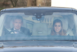 Princess Beatrice arrives for the Queen's Christmas lunch at Buckingham Palace, London. PA Photo. Picture date: Wednesday December 18, 2019. Photo credit should read: Aaron Chown/PA Wire