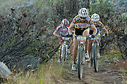 Christoph Sauser of Team 360ne Songo-Specialized leads the first bunch to climb the old oxwagon trail during stage 2 of the 2011 Absa Cape Epic Mountain Bike stage race held from Saronsberg Wine Estate in Tulbagh, South Africa on the 29 March 2011..Photo by Greg Beadle/Cape Epic/SPORTZPICS