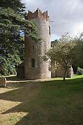 Round tower village parish church, Saint Peter Thorington, Suffolk, England, UK