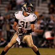 North Brunswick High School's Randy Clark looks to pass against South Brunswick Friday September 13, 2013. (Jason A. Frizzelle)