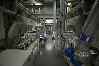 Royal Caribbean International's  Independence of the Seas, the world's largest cruise ship...Onboard feature pictures...Engine room..