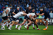 Danilo Fischetti of Italy and Jamie Ritchie of Scotland in action during the Guinness Six Nations 2020, rugby union match between Italy and Scotland on February 22, 2020 at Stadio Olimpico in Rome, Italy - Photo Federico Proietti / ProSportsImages / DPPI