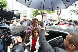 October 7, 2018 - Sao Paulo, Brazil - The candidate for the Presidency of Brazil, Fernando Haddad, makes his vote at the Colegio Brazilian Internacional School, in Sao Paulo. October 7, 2018. (Credit Image: © Fotorua/NurPhoto/ZUMA Press)