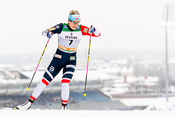 February 9, 2019 - Lahtis, FINLAND - 190209  Mari Eide of Norway competes in the women's sprint qualification during the FIS Cross-Country World Cup on February 9, 2019 in Lahti..Photo: Johanna Lundberg / BILDBYRN / 135946 (Credit Image: © Johanna Lundberg/Bildbyran via ZUMA Press)