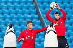 October 10, 2018 - Oslo, NORWAY - 181010 Goalkeeper Ørjan HÃ¥skjold Nyland and goalkeeper Rune Almenning Jarstein of Norway during a training session on October 10, 2018 in Oslo..Photo: Jon Olav Nesvold / BILDBYRÃ…N / kod JE / 160323 (Credit Image: © Jon Olav Nesvold/Bildbyran via ZUMA Press)