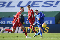 Football - 2020 / 2021 Premier League - Leicester City vs Liverpool - King Power Stadium<br /> <br /> Leicester City's Harvey Barnes shoots at goal.<br /> <br /> COLORSPORT/ASHLEY WESTERN