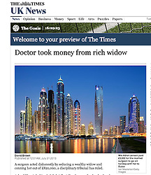 The Times; Skyline of Dubai at night