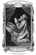 Elijah raising the widow's son. 'Bible' 1 Kings 17.19, 20. Copperplate engraving c1808