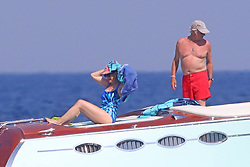 King Carl XVI Gustaf and Queen Silvia of Sweden start of the first bathing for the season on the boat during their holidays, in Saint Tropez, south of France, on July 01, 2019. Photo by ABACAPRESS.COM