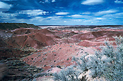 Painted Desert overlook shows the effects of wind & water erosion on rock layers...Subject photograph(s) are copyright Edward McCain. All rights are reserved except those specifically granted by Edward McCain in writing prior to publication...McCain Photography.211 S 4th Avenue.Tucson, AZ 85701-2103.(520) 623-1998.mobile: (520) 990-0999.fax: (520) 623-1190.http://www.mccainphoto.com.edward@mccainphoto.com.