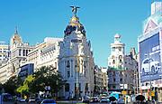 Metropolis building, Calle de Alcala and Gran Vía, Madrid city centre, Spain, architects Jules and Raymond Février 1911