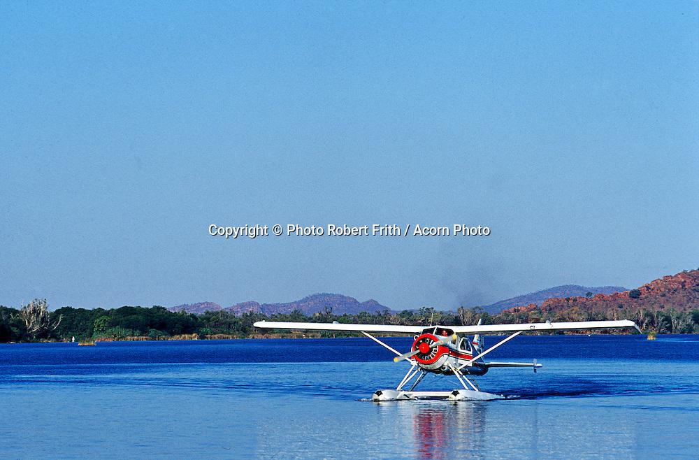 Cessna Float Plane on lake Kununurra