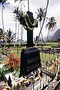 Father Damien, memorial site, Kalaupapa, Molokai, Hawaii
