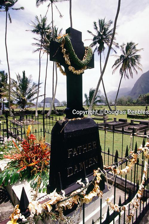 Father Damien, memorial site, Kalaupapa, Molokai, Hawaii