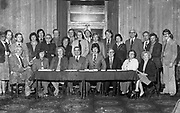 The new Killarney Tourism Council in 1989 with Paudie O'Connor as Chairman, Ignatius Buckley, Failte Ireland, and many local traders including Seamus Kiely, Liam Kelly, Catherine Dero O'Sullivan, Geoff McCarthy, Richard Leane, Denis Coffey, Tony McSweeney, Finbarr Slatttery, Ned Mures and Danny Casey.<br /> Killarney Now & Then - MacMONAGLE photo archives.<br /> Picture by Don MacMonagle -macmonagle.com