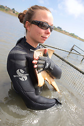 Katie Kent With Thornback Ray