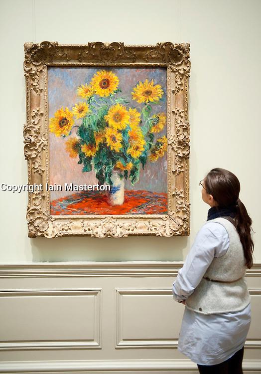 Bouquet of Sunflowers by Claude Monet at Metropolitan Museum of Art in Manhattan , New York City, USA