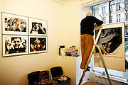Tuesday March 18th 2008.  .Paris, France.At the Cosmos Gallery - Installation of Serge Cohen's exhibition..Avenue de la Tour Maubourg - 7th Arrondissement.