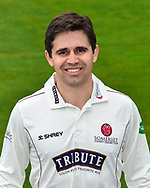 Head shot.  Johann Myburgh wearing the Somerset Specsavers County Championship kit at the media day at Somerset County Cricket Club at the Cooper Associates County Ground, Taunton, United Kingdom on 11 April 2018. Picture by Graham Hunt.