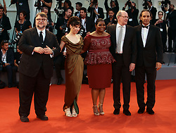 Alexandre Desplat, Richard Jenkins, Octavia Spencer, Sally Hawkins and Guillermo Del Toro walks the red carpet ahead of the 'The Shape Of Water' screening during the 74th Venice Film Festival in Venice, Italy, on August 31, 2017. (Photo by Matteo Chinellato/NurPhoto/Sipa USA)