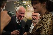 DESMOND GUINNESS; MIM SCALA; JASMINE GUINNESS, Mim Scala, In Motion, private view. Eleven. Eccleston st. London. 9 October 2014.