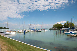 Lake Balaton, Sailing boats in harbour of Balatonfured, Hungary