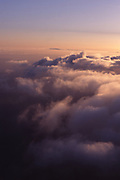 Strato cumulus clouds at sunset