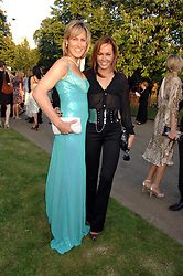 Left to right, sisters SANTA SEBAG-MONTEFIORE and TARA PALMER-TOMPKINSON at the annual Serpentine Gallery Summer Party in association with Swarovski held at the gallery, Kensington Gardens, London on 11th July 2007.<br /><br />NON EXCLUSIVE - WORLD RIGHTS
