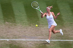 July 10, 2018 - London, England, U.S. - LONDON, ENG - JULY 10: CAMILA GIORGI (ITA) during day eight match of the 2018 Wimbledon on July 10, 2018, at All England Lawn Tennis and Croquet Club in London,England. (Photo by Chaz Niell/Icon Sportswire) (Credit Image: © Chaz Niell/Icon SMI via ZUMA Press)