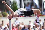 Zach Ziemek (USA) clears 6-11 3/4 (2.13m) in the high jump during the decathlon at the DecaStar meeting, Friday, June 22, 2019, in Talence, France. Ziemek placed second with 8,344 points. (Jiro Mochizuki/Image of Sport)
