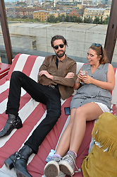 JACK GUINNESS at the Warner Music Group Summer Party in association with British GQ held at Shoreditch House, Ebor Street, London E2 on 8th July 2015.