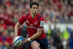 October 20, 2018 - Limerick, Ireland - Joey Carbery of Munster runs with the ball to score a try during the Heineken Champions Cup match between Munster Rugby and Gloucester Rugby at Thomond Park in Limerick, Ireland on October 20, 2018  (Credit Image: © Andrew Surma/NurPhoto via ZUMA Press)